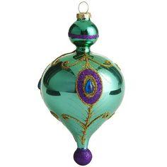 Finial Peacock Ornament