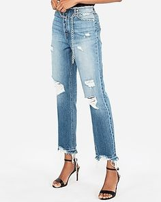 Fall Outfits, Summer Outfits, Casual Outfits, Cute Outfits, Beach Outfits, Ankle Jeans, Trendy Fashion, Style Fashion, Distressed Jeans