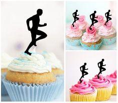 Macho Man Bodybuilder Edible Cupcake Toppers Decoration