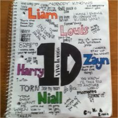 my drawing of one direction songs and lyrics (: this is nice. Credit to whoever drew it!