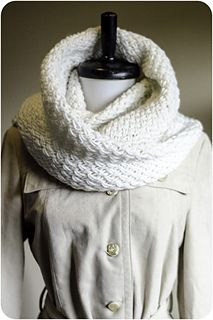 For keeping out the cold: Snowdrift Infinity Cowl by Kalurah
