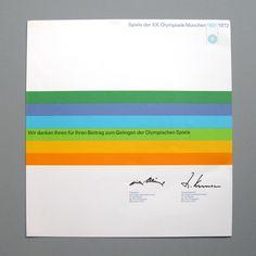 Graphic Heroes: Otl Aicher, Designer 1972 Munich Olympics Identity - AnotherDesignBlog.