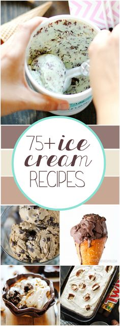 75 Homemade Ice Cream Recipes Ice Cream Sorbet and gelato Ice Cream Treats, Make Ice Cream, Ice Cream Desserts, Frozen Desserts, Frozen Treats, Ice Cream Flavors, Home Made Ice Cream, Gelato, Kitchen Aid Ice Cream