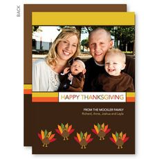 Turkeys and Turkeys Thanksgiving Photo Cards #StationeryStudio