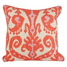 I pinned this Ikat Square Pillow in Orange and Pink from the Signature By Strouds event at Joss and Main!