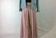 Vintage Silk Pink Wedding  Lehenga Maxi Skirt.,India,Ethnic, Boho, by eleanorfayesfashion. Explore more products on http://eleanorfayesfashion.etsy.com