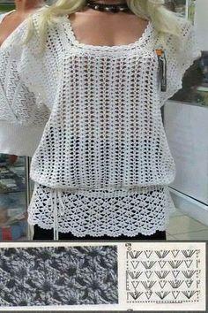 Fabulous Crochet a Little Black Crochet Dress Ideas. Georgeous Crochet a Little Black Crochet Dress Ideas. Crochet Stitches Patterns, Crochet Motif, Crochet Lace, Crochet Tops, Knooking, Mode Crochet, Black Crochet Dress, Crochet Shirt, Crochet Woman