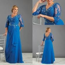 Plus Size Formal Dresses With Long Sleeves Beaded Appliques V-Neck Mother Of Bride Dress Chiffon Cheap Ruffles Prom Evening Gowns Summer Mother Of The Bride Dresses, Mother Of The Bride Gown, Mother Of Groom Dresses, Bride Groom Dress, Mothers Dresses, Bride Gowns, Formal Dress Shops, Plus Size Formal Dresses, Evening Dresses Plus Size