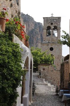 Old Greek Orthodox Church Bells Tower, Monemvasia, Peloponnese, Greece Porches, Corinth Canal, Places In Greece, Corfu, Monemvasia Greece, Greek Isles, Greece Islands, Greece Travel, Beautiful Places