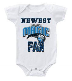 NEW Basketball Baby Bodysuits Creeper NBA Orlando Magic Newest Fan #2