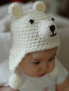 Newborn Polar Bear Hat  by beliz82