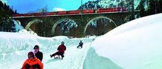 Preda-Bergun Sled Run  Europe's Longest Sled Run  Bergun, Switzerland #EurailWinterWin