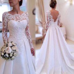 Wedding Dresses,Long Sleeves Wedding Dresses,Lace Wedding Dresses,Pretty Wedding