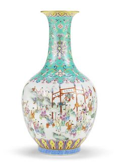 A famille rose 'hundred boys' vase, Jiaqing seal mark and of the period Chinese Culture, Chinese Art, Asian Vases, Art Chinois, Rose Decor, Chinese Ceramics, E Design, Chinoiserie, Ceramic Art
