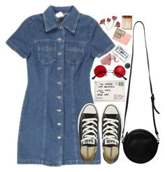 """""""My eyes are open, so let me know the way"""" by tarynasaurus ❤ liked on Polyvore featuring Converse, Monki, women's clothing, women, female, woman, misses and juniors"""