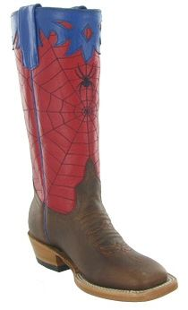 Kids Cowboy Boots Olathe Boots Spiderman Top