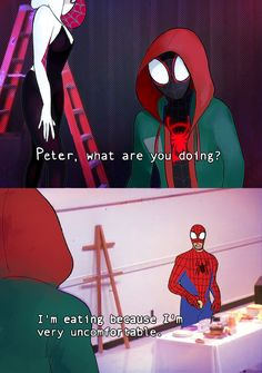 Sugar And Memories — It's Always Sunny in Spider-Verse Marvel Art, Marvel Dc Comics, Marvel Heroes, Marvel Avengers, Marvel Jokes, Marvel Funny, All Spiderman, Dc Memes, Nerd