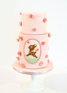1st Birthday Cake with deer!
