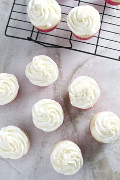 Almond Cupcakes with Whipped Almond Buttercream Frosting - Stuck On Sweet Almond Frosting, Almond Cupcakes, Buttercream Frosting, Cupcake Frosting, Yummy Cupcakes, Wedding Cupcake Recipes, Wedding Cupcakes, Cake Icing, Cupcake Cakes