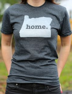Oregon Home T-shirt The Oregon Home T-shirt is a stylish way to show off your state pride, while also helping raise money for multiple sclerosis research. The shirt has a simple design, but its statement says so much. Show your state pride by purchasing a Home T today.