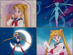 Collage of Sailormoon screenshots.