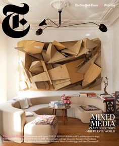 T Magazine cover.November 2012. Cardboard collage by Florian Baudrexel.
