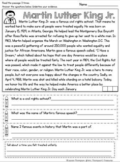 Close Reading Fun and interactive reading comprehension passage about Martin Luther King Jr. Students have to prove their answers by finding the evidence in the text. Martin Luther King, Close Reading, Guided Reading, Teaching Reading, Learning, Reading Comprehension Passages, Comprehension Strategies, Reading Fluency, Reading Intervention