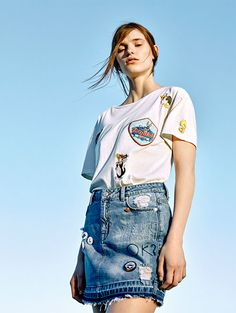 DENIM BEATS | WOMAN & MAN - EDITORIAL - PULL&BEAR United Kingdom looney tunes bugs bunny