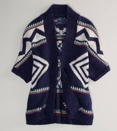 AE open patterned cardigan