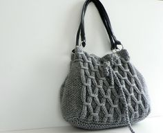 Handknit gray wool handbag, $100 from NzLbags.