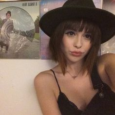 """Acacia Brinley on Instagram: """"played around with some fake bangs last night"""""""