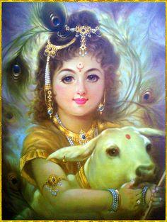 God bless the artist/illustrator . Krishna Radha, Krishna Love, Krishna Avatar, Krishna Bhagwan, Hindu Worship, Yoga Lyon, Art Beat, Lord Krishna Images, Hindu Deities