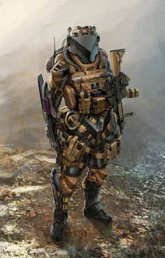 Helldiver Picture (2d, sci-fi, soldier, character)