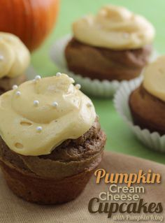 Pumpkin Cream Cheese Cupcakes with PumpkinFrosting (only $6 to make)