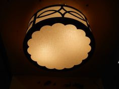 Hatbox Ceiling Light   Lasercut Details   Scalloped Edge   Hand Finished Acrylic   Custom Made by iWorks
