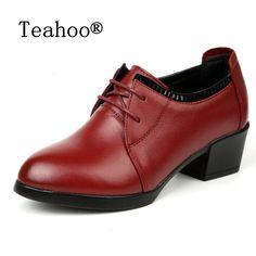 2017 Autumn Genuine Leather Shoes Black Woman Thick High Heeled Lace Up Female Platform Shoes Casual Single Shoes Women's Pumps #Black high heels http://www.ku-ki-shop.com/shop/black-high-heels/2017-autumn-genuine-leather-shoes-black-woman-thick-high-heeled-lace-up-female-platform-shoes-casual-single-shoes-women-s-pumps/