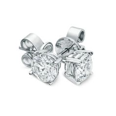 Rosendorff Classic Diamond Stud Earrings. Four claw studs crafted in 18ct white gold. Diamonds available in a range of sizes. www.rosendorffs.com