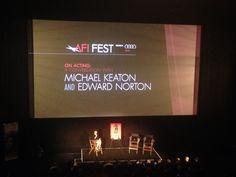 Um bate papo sobre um dos filmes favoritos da temporada: Birdman, com os protagonistas Edward Norton e Michael Keaton, de graça, no AFI Fest em Hollywood. Privilégios da vida em LA!