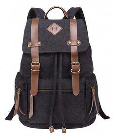 Yiuswoy New Fashion Leisure Canvas Travel Duffle Bag Rucksack Black