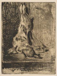 The Rabbit,  Édouard Manet, 1866, etching.