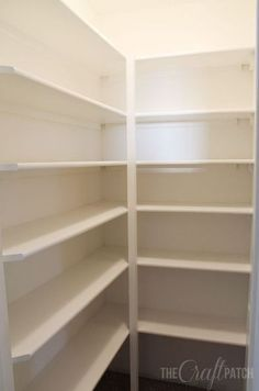 How To Build Pantry Shelves how to build pantry shelves closet diy how to shelvi… – pantry redo Pantry Shelving, Closet Shelves, Pantry Storage, Pantry Organization, Kitchen Storage, Shelving Ideas, Mdf Shelving, Pantry Ideas, Closet Ideas