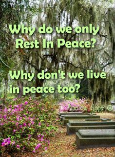 this is a deep aching question I have, what is it about peace that it's an unspoken word .. if we had peace or spoke of peace would people stop walking about asleep?