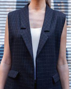Long Waistcoat - Handmade in Greece - Greek Fashion, Women's Fashion, Greece, Blazer, Clothes For Women, Clothing, Handmade, Jackets, Style