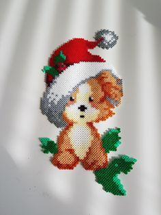 Hama Beads Patterns, Craft Patterns, Beading Patterns, Christmas Perler Beads, Christmas Cross, Peler Beads, Perler Bead Art, Fuse Beads, Beaded Ornaments