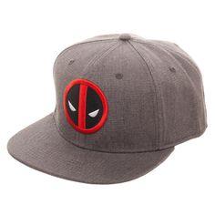 4f16074af84 Embroidered Deadpool Logo Flatbill Flex Cap - Baseball Cap   Snapback –  Nerdco Flat Bill Hats