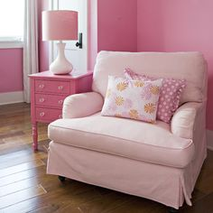 Girls Bedroom Pink Design Ideas, Pictures, Remodel and Decor