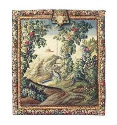 A flemish verdure tapestry with ecclesiastical coat of arms