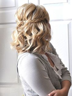Medium Length Half Up Half Down Braids Hairstyles 2016 - 2017