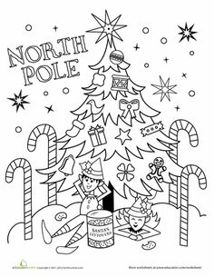 color the north pole