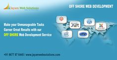 Recognized as top Offshore Web Development India we help you with smart web techniques to address market challenges that your business is faced with. http://www.jayamwebsolutions.com/offshore-web-development-india.php